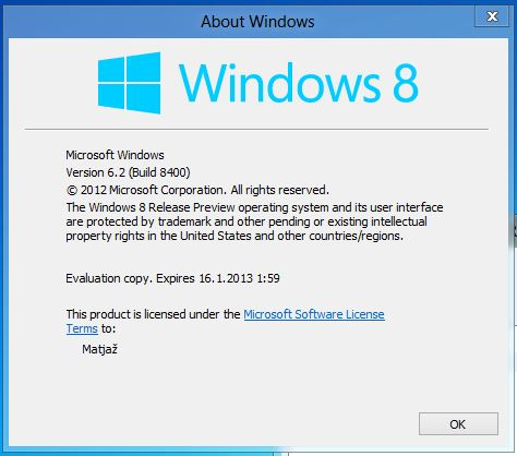 Windows 8 - Release Preview