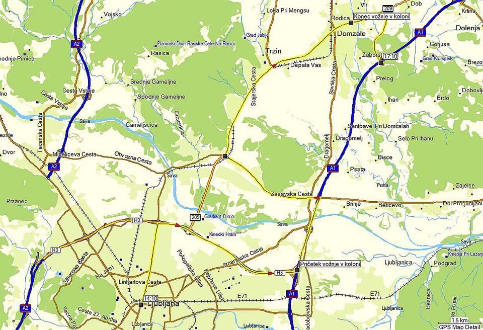 25 km ... v treh urah